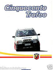 Fiat Cinquecento Abarth Rally Europeo Trofeo 1992 6 Page Italian Brochure