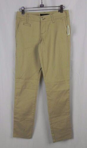 NEW Aeropostale Low Rise Skinny Fit Short Medium Brown Khaki Twill Pants A1-36