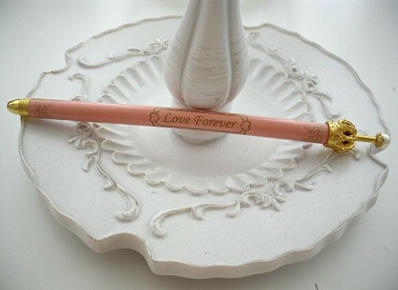 Sweet Crown gold with pearls gel ink Pen Peach Liac Blue Cute UK Kids Gift