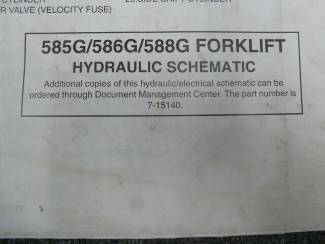 Case 585G 586G 588G Forklift Workshop Repair Service Manual Part Number # 7-14851