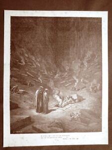 Incisione-Gustave-Dore-del-1890-Dante-tra-i-Miscredenti-Divina-Commedia-Inferno