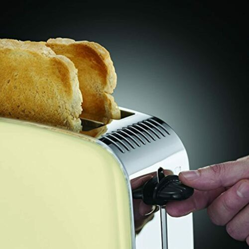 Russell Hobbs Toaster Colours  creme, 2 extra breite Toastschlitze, inkl. Brötc  cnRqI