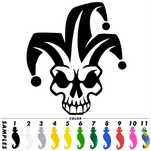 Clown Skull Head Animal Sticker Car Window Bumper Auto Motorcycle  Vinyl Decal