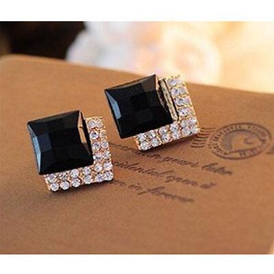 1 Pair Fashion Women's Elegant Crystal Rhinestone Ear Stud Earrings Jewelry New