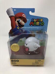"World of Nintendo - 4"" BOO Figure - Super Mario Bros Jakks Pacific - NEW!"