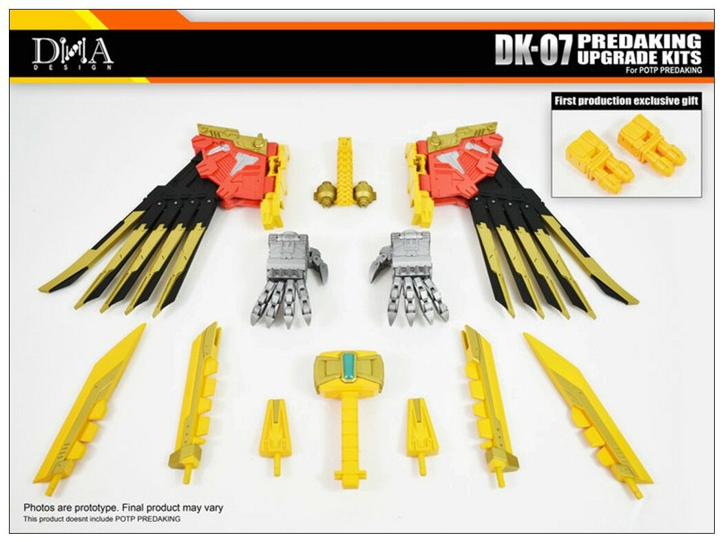 Transformers toy DNA DK-07 Upgrade Kits for For PREDAKING New will arrival
