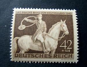 GERMANIA-GERMANY1943-D-REICH-034-10-Nastro-Bruno-034-1V-Cpl-SET-MNH