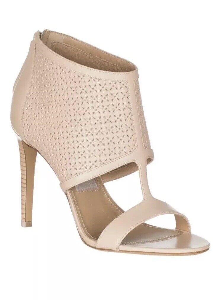 tutto in alta qualità e prezzo basso Ferragamo Pacella Perforated Peep-toe avvioie 6 6 6 1 2 M rosa Calf Leather scarpe  economico e di alta qualità