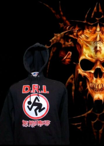 DIRTY ROTTEN IMBECILES HOODIES PUNK ROCK BLACK MEN/'S SIZES