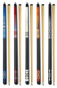 Set-of-5-Pool-Cues-New-58-039-Billiard-House-Bar-Pool-Cue-Sticks-GJ-1-GJ-5