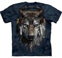 THE MOUNTAIN DJ MUSIC WOLF COYOTE  ANIMAL  BIG FACE ADULT  T SHIRT
