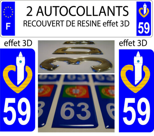 2 Stickers Covered Resin License Plate Department North 59