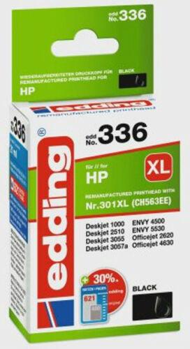 COLOUR oder als SET 301 XL.336 337 Edding Druckerpatronen für HP Nr 301XL BLACK