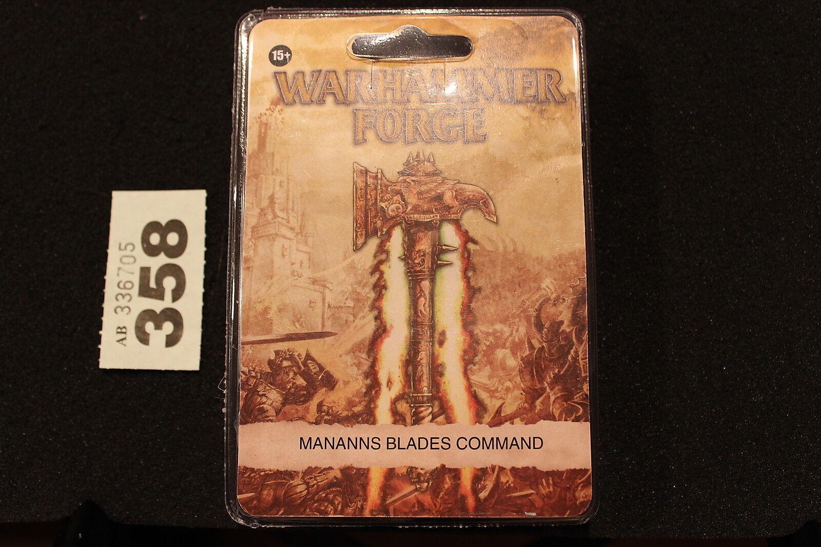 Games Workshop Warhammer Forgeworld Empire Mannans Blades Command BNIB Captain