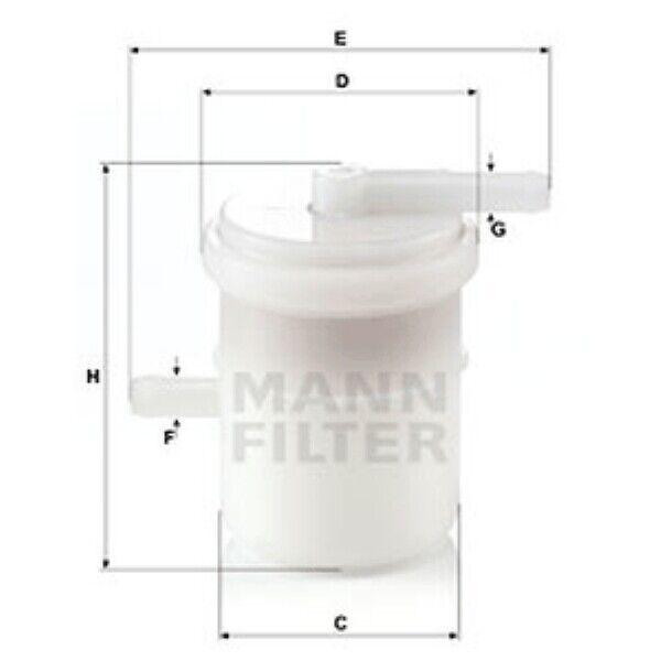 Mann Fuel Filter Inline For Suzuki Samurai 1.3 AWD 1.3