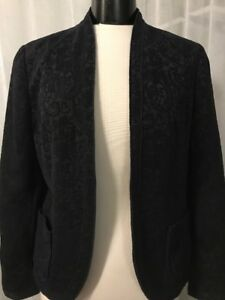 Blazer Size Creek Small Navy Textured Coldwater Women's Floral 6 Blue 0EqdHZw