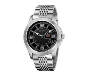 a8955197a4d Gucci YA126201 Black Dial Date Stainless Steel 126.2 Series Men s ...