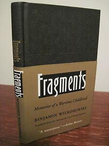 1st-1st-Printing-FRAGMENTS-Wilkomirski-MEMOIRS-Holocaust-WWII-War-Classic
