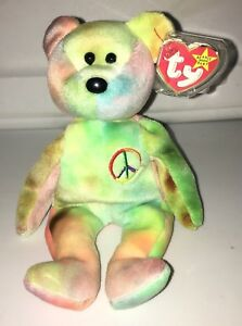 e7acd7cba6d Image is loading Rare-Ty-Beanie-Baby-Peace-Bear-Original-Collectible-