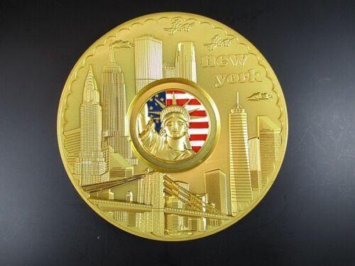 New York Teller Metall 14 cm,Freiheitsstatue,Empire,Chrysler,Freedom Tower .