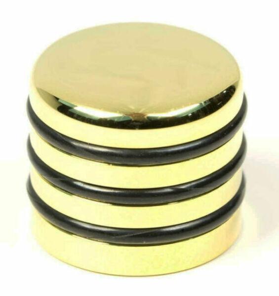 Hipshot Gold Stacked No-Slip O-Ring Knob for Guitar//Bass 6mm//8mm Shafts 80610G