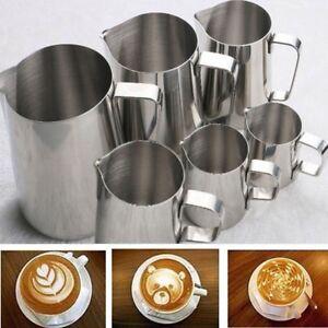Image Is Loading Kitchen Stainless Steel Espresso Coffee Pitcher Craft Milk