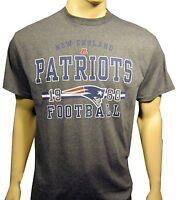 England Patriots Dark Gray Graphic Team Name Logo S/s Tee Shirt Large