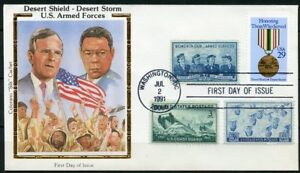 UNITED-STATES-COLORANO-1991-DESERT-STORM-DESERT-SHIELD-COMBO-FIRST-DAY-COVER