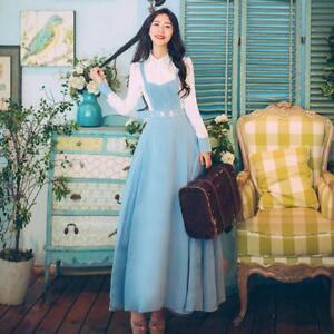 Girl femmesdouce vintage élégante longue douce Robe douceMori et et aux K15lJuF3cT
