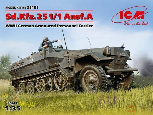 marca ICM SD.KFZ.251 1 AUSF.A WWII GERMAN PERSONNEL CocheRIER 1 1 1 35 cod.35101  popular