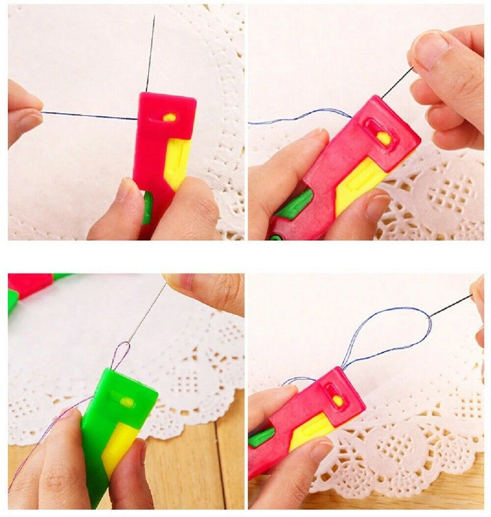10pcs//lot DIY Threader Elderly Guide Needle Easy Automatic Thread Sewing ToolHNJ