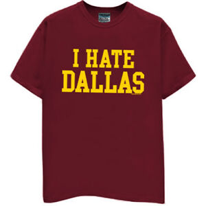 Washington-Redskins-T-shirt-I-HATE-DALLAS-funny-football-jersey-SMALL