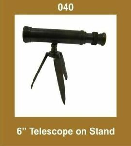 New-6-Inch-Telescope-on-Stand-Tripod-Nautical-Collectible