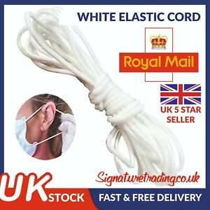 3mm Round Elastic Cord Face Masks Sewing Crafts Band Stretch