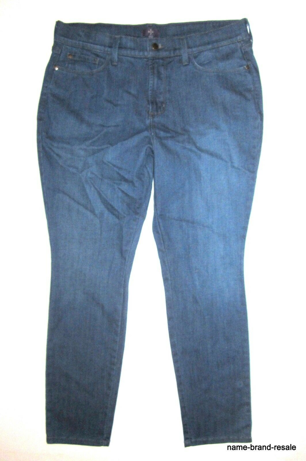 NYDJ Not Your Daughters JEANS Womens PLUS 14P 14 Petite Stretch Skinny Slim USA