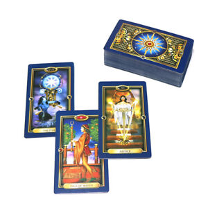 78-Tarot-cards-Full-English-gold-mysterious-playing-board-game-divination-deck