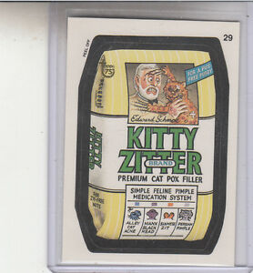 2013-TOPPS-75TH-ANNIVERSARY-GOLD-STAMPED-1991-WACKY-PACKAGES-29-KITTY-ZITTER