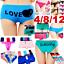 4-Women-Panties-Underwear-Bikini-Lace-Cotton-Thong-Briefs-Shapewear-Body-Shaper thumbnail 1