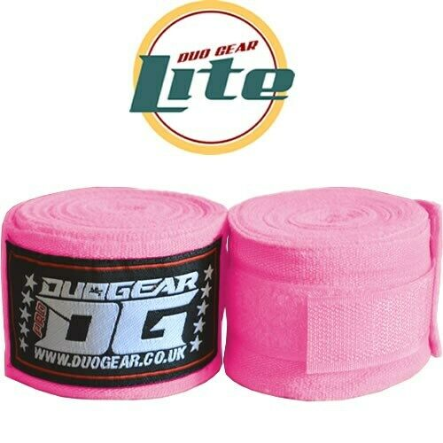 LITE PINK HAND WRAPS WRIST SUPPORTS FOR MMA KICKBOXING SPORTS TRAINING 2.5m