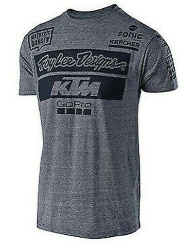 T-Shirt KTM Team Tee Snow Grau 70164492 L T-Shirt Troy Lee Designs