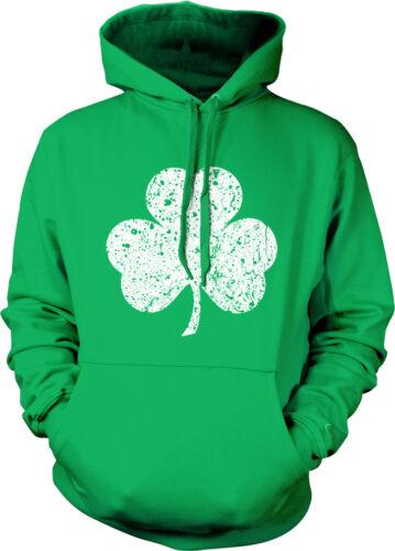 Three Leaf Clover Distressed Irish St Patrick/'s Day Mens Hoodie Sweatshirt