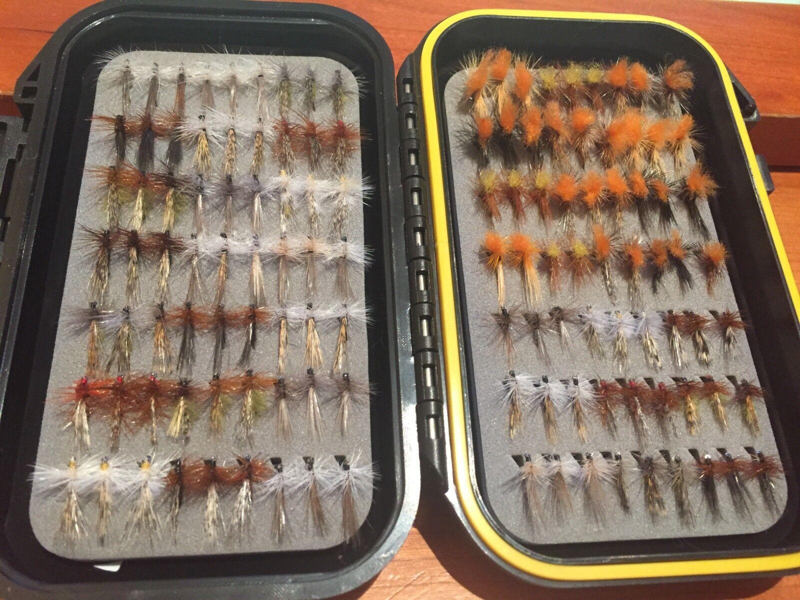 Colección de 126 tricopteros con pluma de León. Sin muerte -- FLY FISHING - 98