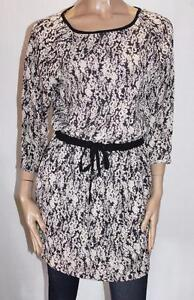 EMERSON-Brand-Black-Floral-Pocket-Day-Dress-Size-8-XS-BNWT-SL97