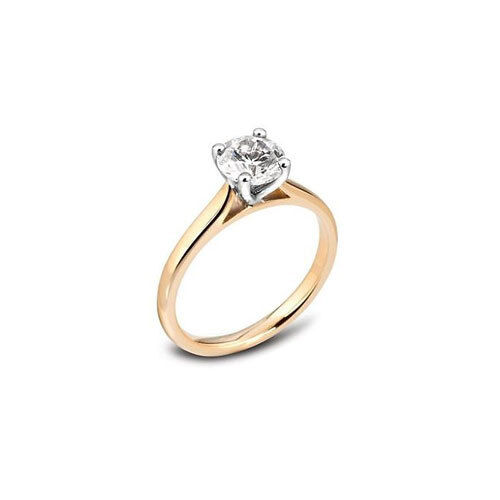 18ct Yellow gold Diamond Solitaire Ring- 0.25ct - H-SI1