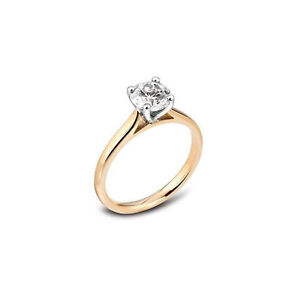 18ct-Oro-Giallo-Diamante-Solitario-Anello-0-25-CT-H-SI1