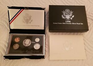 1996-US-MINT-PREMIER-SILVER-PROOF-Black-Box-w-BOX-amp-COA