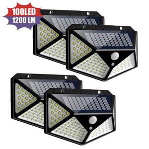 100-LED-Energia-Solar-Luz-al-Aire-Libre-Sensor-De-Movimiento-Pared-Patio-Spa-Jardin-Lamparas-Usa