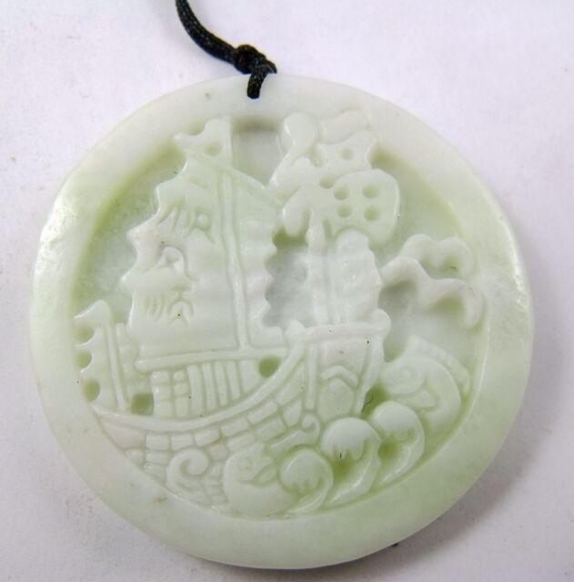 Lantian Jade smooth sailing Amulet Pendant 348
