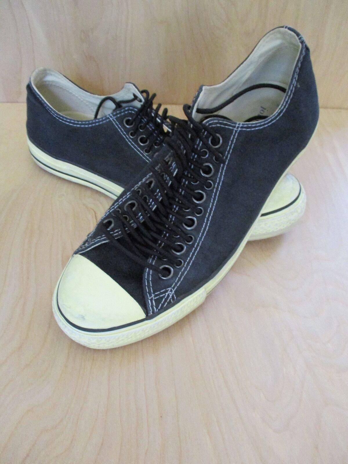 JOHN VARVATOS Converse black low multi hole sneakers trainers 8