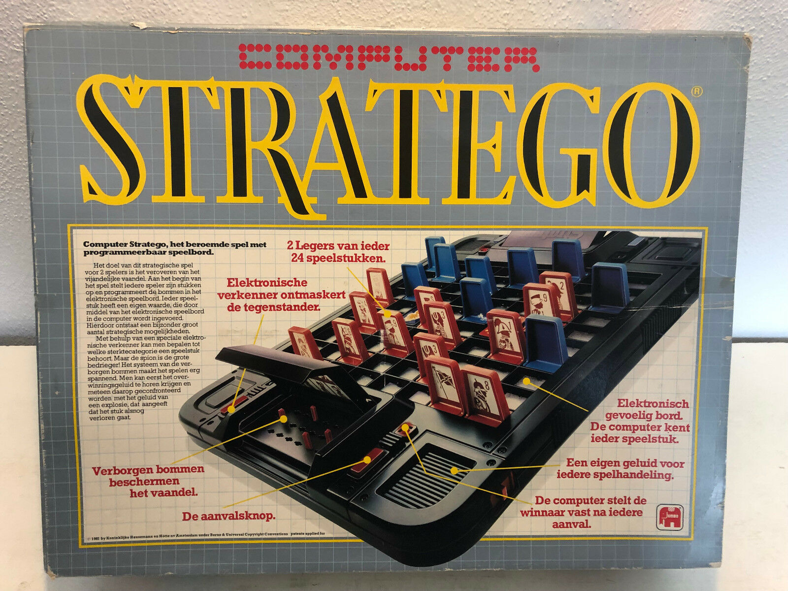 Ordinateur stratego de Jumbo orginalausgabe Jeu de Stratégie Tactique Classique RAR
